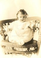 baby with wicker by peaceocake