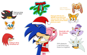 Sonamy Misletoe - very original title XD - by SQuietSonamy