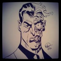 Two Face Batman the Animated Series by zhiggins
