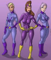 Purple Vixen and Hench Girls by dangerfan