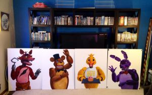 FNAF Portraits for Scale by AokiBengal