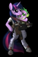 Colonial marine Lieutenant Twilight Sparkle by CorruptionSolid