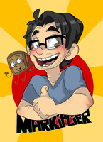 Markiplier and Tiny Box Tim by Monodes