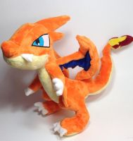 Pokemon - Mega Charizard Y custom plush by Kitamon