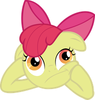 Applebloom Thinking by Crisx3