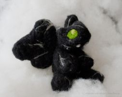 Needlefelted Gargoyle ArtCrossing gift by IskaDesign
