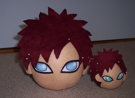 Plush Gaara heads_Big and Tiny by goiku