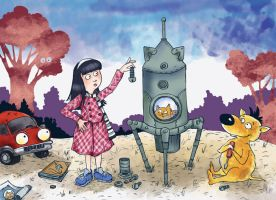 Book illustration - How to built a spaceship by Maria-van-Bruggen