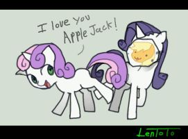 Apple Jack n Sweetie Belle by LenToTo