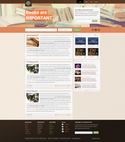 Bookshelf Web design by RasonDesign