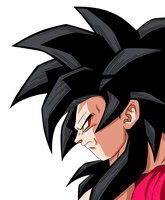 Goku ssj4 Face by maffo1989