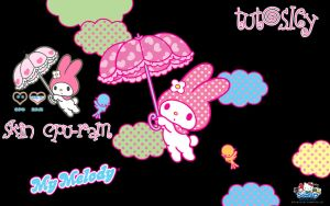 Skin xwidget cpu - Ram My Melody by leyfzalley