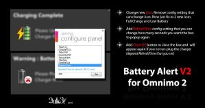 Battery Alert V2 for Omnimo 2 by 2uk3y