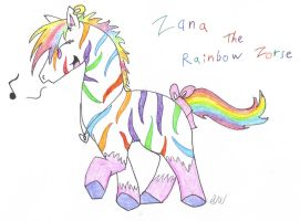 Zana the Rainbow Zorse by KagutsuchiX