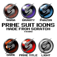 Metroid Prime Suit Icons by Faybro
