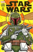 Boba Fett sketch cover 2 by JasonGoad