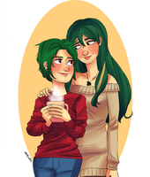 Mistletoe and Holly by maybelletea