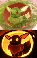 Eevee Watermelon by johwee