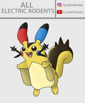 All Electric Rodents Fusion by LyndorDraws