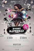 Every Saturday Flyer Template by koza30