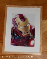 Iron Man 3 colour drawing in a frame by Martin--Art