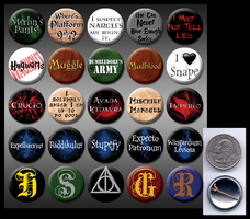 "Harry Potter 1"" buttons by eitanya"