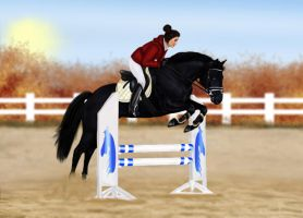 First jumping lesson by SilviasDesires