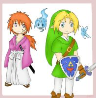 Chibi Kenshin Link and.... by SparxPunx