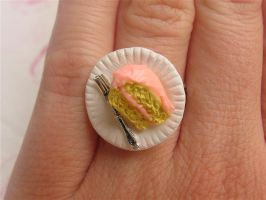 Vanilla Cake Slice Ring by MotherMayIjewelry
