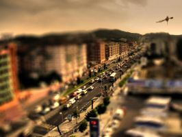 Barcelona Road-Tilt Shift by ChaosBearer