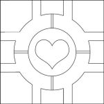 Companion Cube pattern by Eyespiral-stock