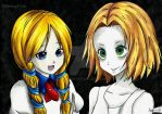 Eyeless girl and Coron by RemyFive