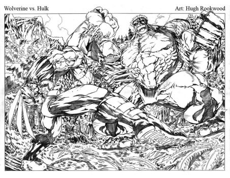 Wolverine vs Hulk - Pencils by Chozenstudios
