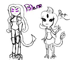 Blane and Pet by askKittenPrincess