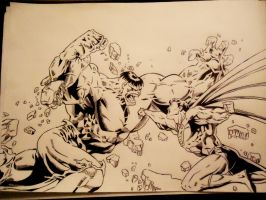 Hulk vs Superman (In Progress) by naldojunio