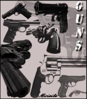 Guns Brushes by Miciaila