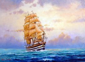 Sailing Ship4 Americo Vespucio by temma22