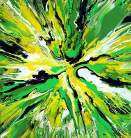 Abstract Spin Painting 14 by Mark-Chadwick