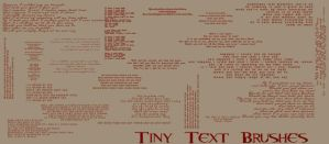 Tiny Text Brushes by freaky-x