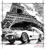 Eiffel Tour de France prelim sketch by ferrariartist