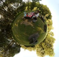 In a stereographic park by msulik