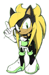 .:Sonic Channel Sketch:. Crisis by Jewel-Shapeshifter