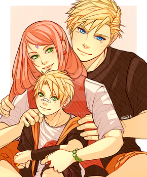 Naruto: Narusaku Holiday Exchange by Kaleta