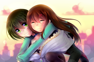 Carrying the Bae - DMMD AU (SPEED PAINT) by LemonPoppySeedMuffin