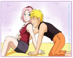 NaruSaku Snuggle with Me by BotanofSpiritWorld