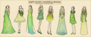 Eight Annie's Dresses by xxIgnisxx