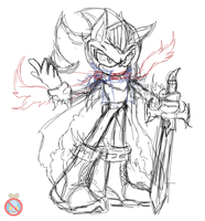 Shadow the hedgehog knight sketch by shadowhatesomochao