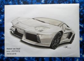 Lamborghini marker drawing by Laggtastic