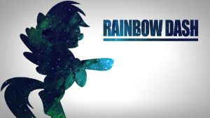 Rainbow Dash Space Wallpaper by Noahlankford
