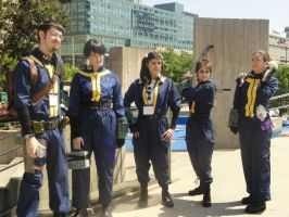 Fallout 3: Vault Dweller Line-Up by Cos-mopolitan